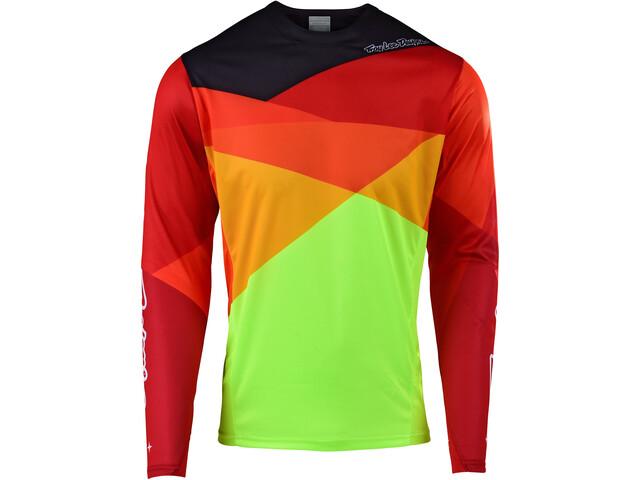 Troy Lee Designs Sprint LS Jersey Herren jet/yellow/orange
